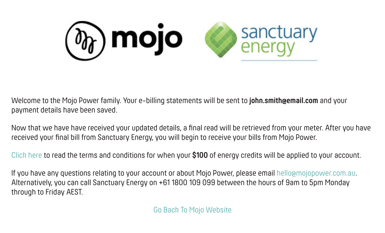 Sanctuary Energy Terms & Conditions - Mojo Power